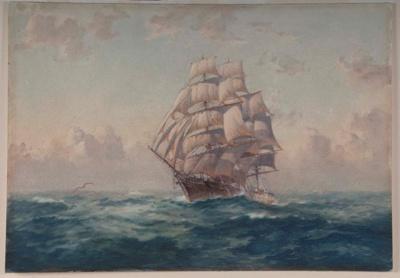 """Sailing Ship """"Cutty Sark""""; John ALLCOT, 1888-1973; 1934; 1934_29"""