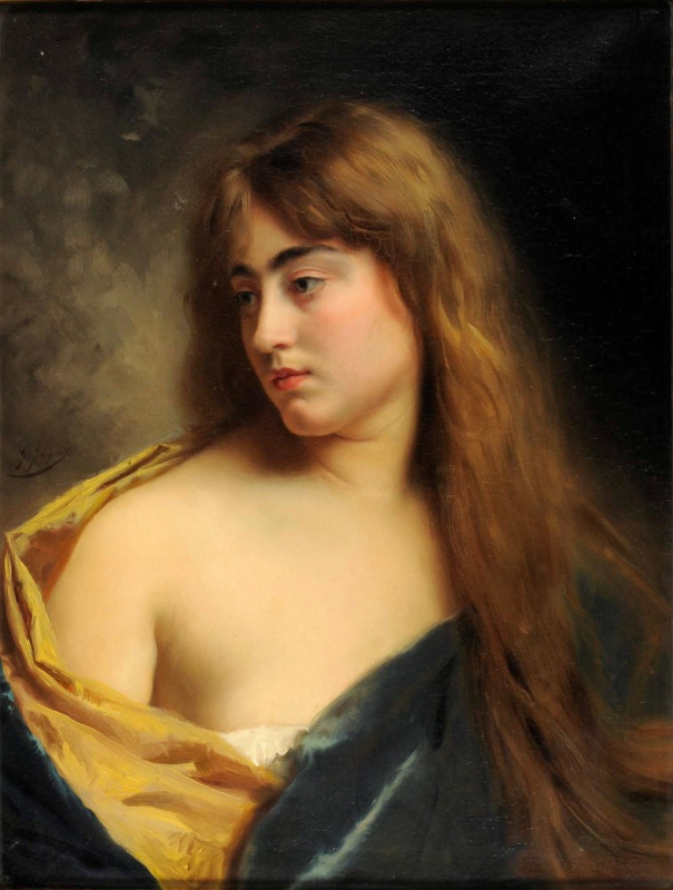 Contemplation; Gustave Jean JACQUET, 1846-1909; n.d.; 1930_6 on eHive