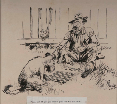 A Game of Draughts; Ted SCORFIELD, 1882-1965; n.d.; 1945_1