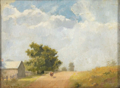 Village Street; A.E. NEWBURY, 1891-1941; n.d.; 1940_13