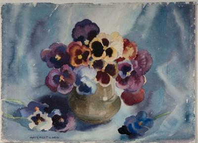 Pansies; Margaret COEN, 1910-1998; 1942; 1942_55