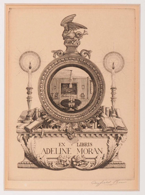 Adeline Moran (Bookplate); Gayfield SHAW, 1885-1961; 1937; 1945_24_2