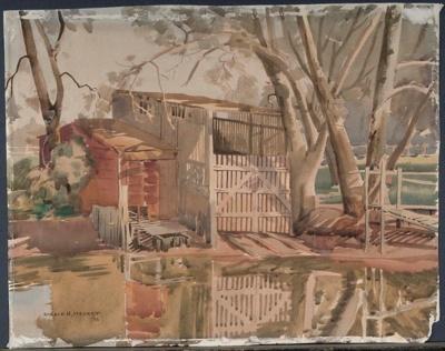 The Boathouse; Ronald Hewison STEUART, 1898-1988; 1936; 1936_23