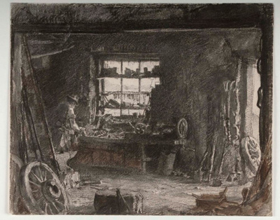 The Old Smithy; Hans HEYSEN, 1877-1968; n.d.; 1944_32