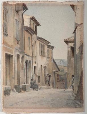 Street in Cagnes, France; James COOK, 1904-1960; n.d.; 1942_45