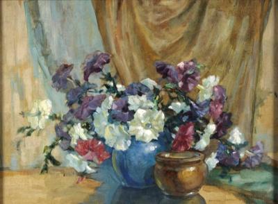 Petunias; Athol Matson NICHOLAS, 1898-1964; n.d.; 1934_18