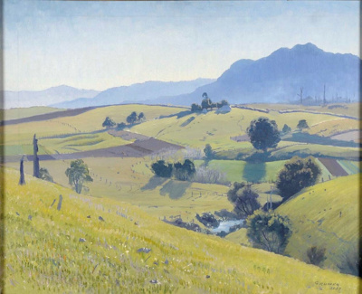 Winter Afternoon, Bellingen; Elioth GRUNER, 1882-1939; 1937; 1938_25