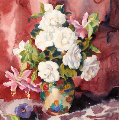 Camellias and Passion Flower; Margaret COEN, 1910-1998; 1941; 1941_18