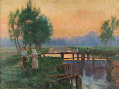 The Lock Gates; Adrian STOKES, 1854-1935; n.d.; 1929_1