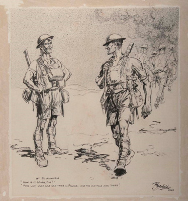 At El Alamein; Ted SCORFIELD, 1882-1965; 1942; 1942_32