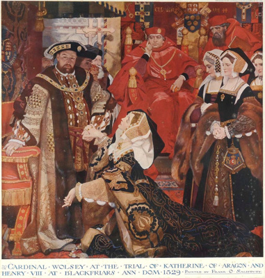 Cardinal Wolsey at the Trial of Queen Catherine Aragon; Frank O. SALISBURY, 1874-1962; n.d.; 1938_103