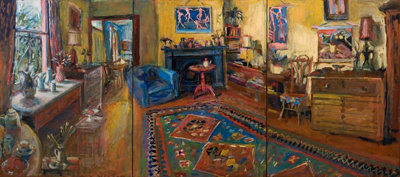 The Yellow Room Triptych; Margaret OLLEY, 1923-2011; 2007; 2012_3