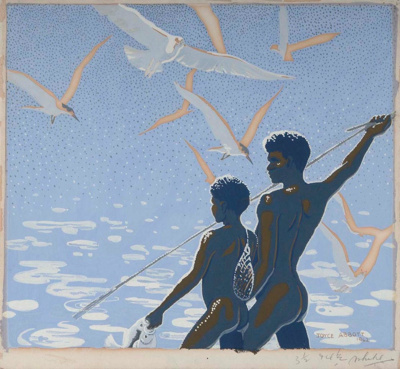 Fishing; Joyce ABBOTT, 1913-; 1942; 1942_36