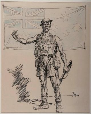 An Australian Digger; Ted SCORFIELD, 1882-1965; (1942); 1943_3