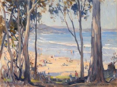 Summer Afternoon (Beach at Lorne, Victoria); Charles WHEELER, 1881-1977; n.d.; 1944_1