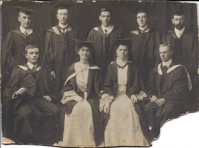 Roy Bridges Graduation Framed Photograph; March 1905