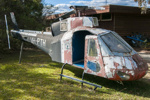 Helicopter, Squirrel quarter scale replica, Park Air 1, plywood, sheet metal, perspex, recycled aircraft gauges, victa motor; Andrew Heighway; 2001-2002; 2015.44
