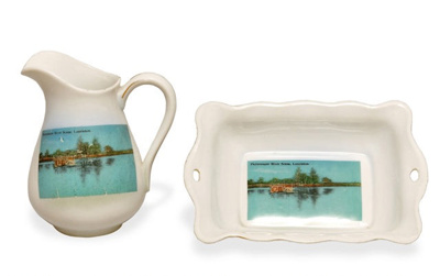 Souvenir Dish and Jug with Laurieton River Scene; 1954; CH2 & CH3