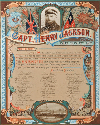 Illuminated Address presented to Captain Henry Jackson; c 1910; S/I005 (003)