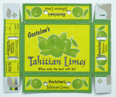 Gostelow's Tahitian Limes; Maker not known; 17.0286