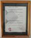 Customer Service Charter certificate.; CVC 81b