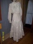 Margaret Ewin's wedding dress; 65/0015A & B