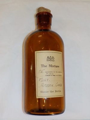 Brown medicine bottle - Mist Ammon Carb; unknown; BC2015/138