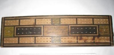 Cribbage Scoring Board; unknown; c1950's; BC2015/148
