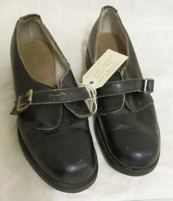 Pair of Leather Shoes; unknown; c1950's; BC2014/411:1-2