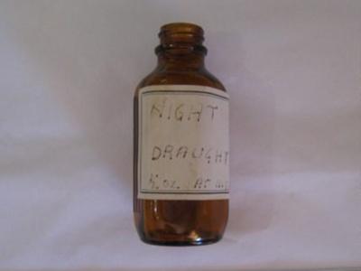 Medicine bottle - Night Draught; unknown; 20th Century; BC2015/139