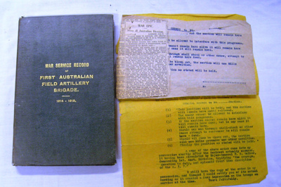 War Service Record Book; WK Thomas & Co, Printers; OWM2015/52:1-2