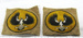 Army patches of Piping Shriek Bird; c. 1949; OWM2015.29:1-2
