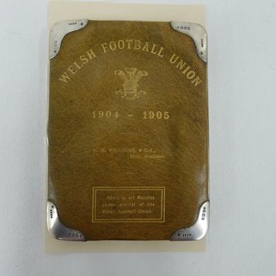 Welsh Football Union match pass - 1904-1905; 1005