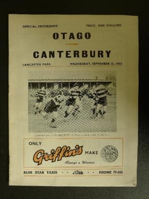 Programme - 21 September 1955