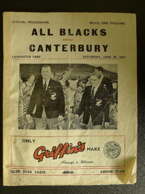 Programme - 29 June 1957