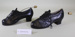 Pair of ladies black shoes & shoe trees; Unknown maker; Unknown; CR1979.074