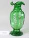 Victorian green glass vase; Unknown maker; Unknown; CR2008.008.7