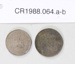 Coins, one shilling, half penny; Royal Mint; 1880's; CR1988.064.a-b