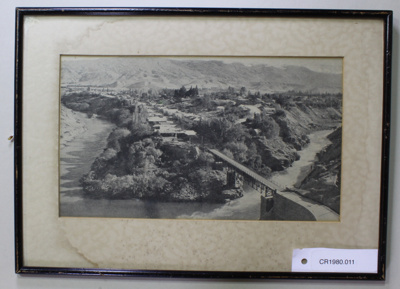 Aerial photograph, Cromwell Bridge 1936; Unknown; 1936; CR1980.011