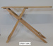 Wooden folding ironing board; Unknown maker; 1890s; CR2017.004.2