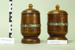 Wooden canisters with lids (2); Unknown maker; Unknown; CR1977.303