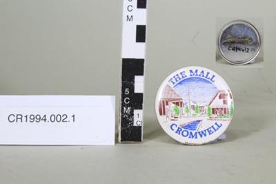 Badge, Cromwell Mall; Brandwell Moller Ltd; 1980's; CR1994.002.1