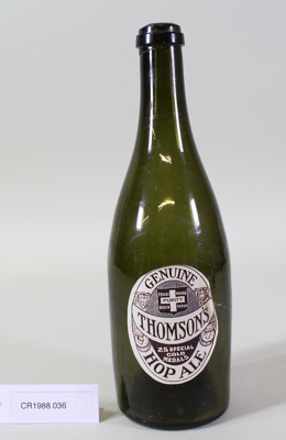 Beer bottle; Unknown maker; Unknown; CR1988.036