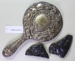 Silver backed hand mirror; Unknown maker; Unknown; CR2015.009.13