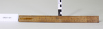 12 inch Wooden Ruler; Unknown maker; unknown; CR2017.021