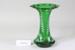Victorian green glass vase; Unknown maker; Unknown; CR2008.008.33