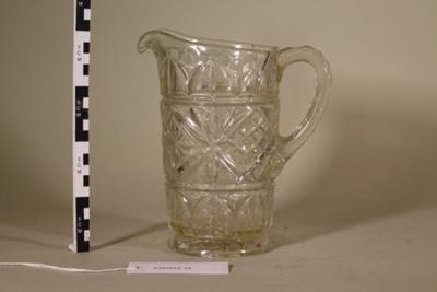 Glass Jug; Unknown maker; Unknown; CR2012.075