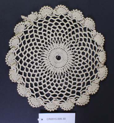 Crochet doily.; Unknown maker; Unknown; CR2015.009.30