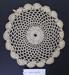 Crochet doily.; Unknown maker; Unknown; CR2015.009.30