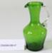 Victorian green glass jug; Unknown maker; Unknown; CR2008.008.47